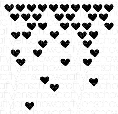 Falling Hearts Background Cut File