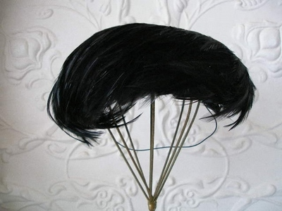 Cocktail Feather Black Classic