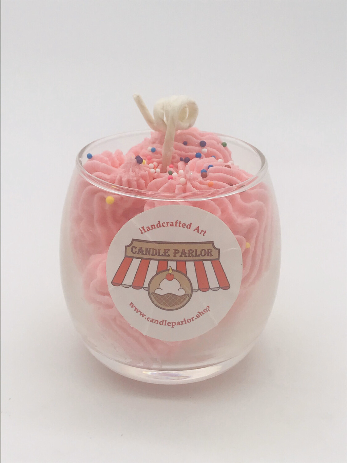 Strawberry Scented Sundae Candle, Globe
