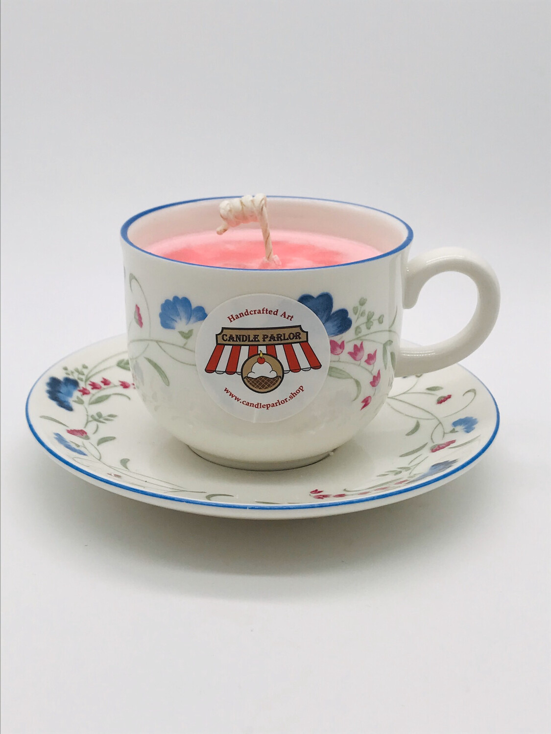 Strawberry Scented Tea Cup Set Candle