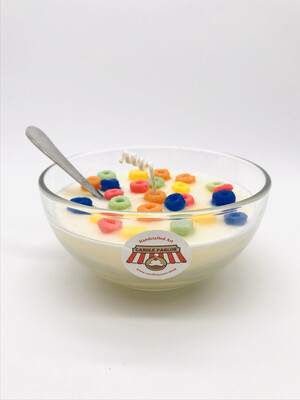 Vanilla Scented Cereal Candle, LG Bowl