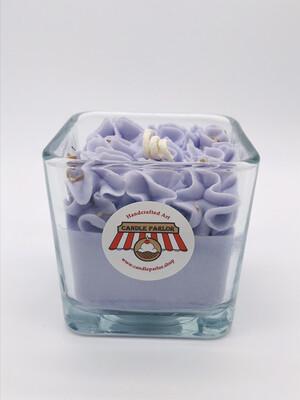 Lavender Scented Candle, Square Jar