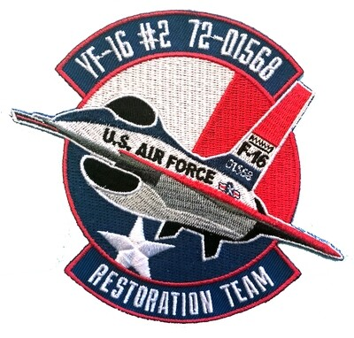 YF-16 #2 Cloth Embroidered Patch