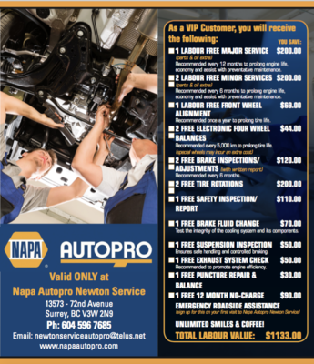 Napa Autopro Newton Service (Newton - Surrey)