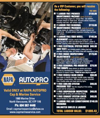 Napa Autopro Cap & Marine Service (North Vancouver)