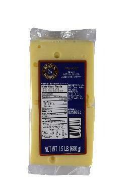 Block & Barrel Swiss Cheese - Sliced (1.5 lb)