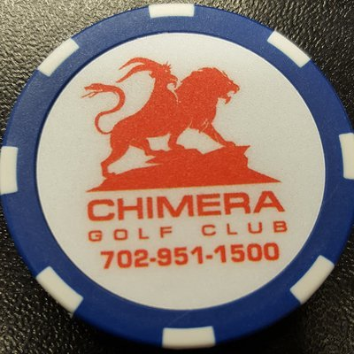 Chimera Poker Chip Golf Ball Marker - Blue and White