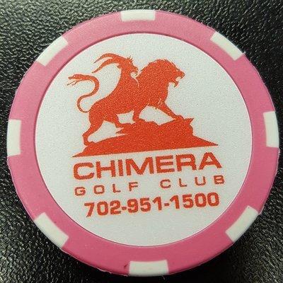 Chimera Poker Chip Golf Ball Marker - Pink and White