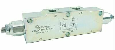 DUAL COUNTER BALANCE LOAD HOLD CRANING VALVE 60-350 Bar 3/4