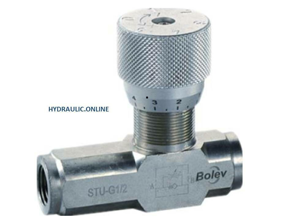Hydraulic Flow Control Valve Reverse Check BSPP
