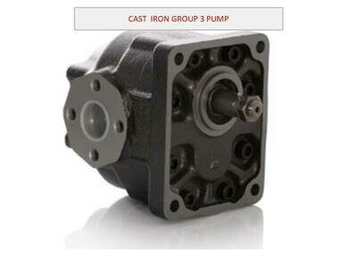 ITALIAN CAST IRON GEAR PUMP GROUP 3 DIN MOUNT 1:8 TAPERED SHAFT  VARIOUS CC's