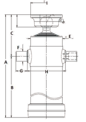 JOST Multistage Hydraulic Tipper Ram | Mid-mount Underbody Cylinder