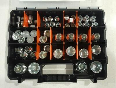 84 Pc JIC Plug Cap & O Ring Kit Dash 4 6 8 10 12 16 c/w Case