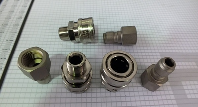 3/8 QUICK CONNECT 4040PSI PRESSURE WASHER FITTINGS​ MADE IN ITALY 280 Bar SINGLEs