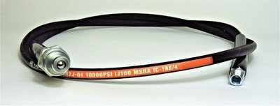 2 m long 10,000 PSI Porta Power Hose with Quick Coupler