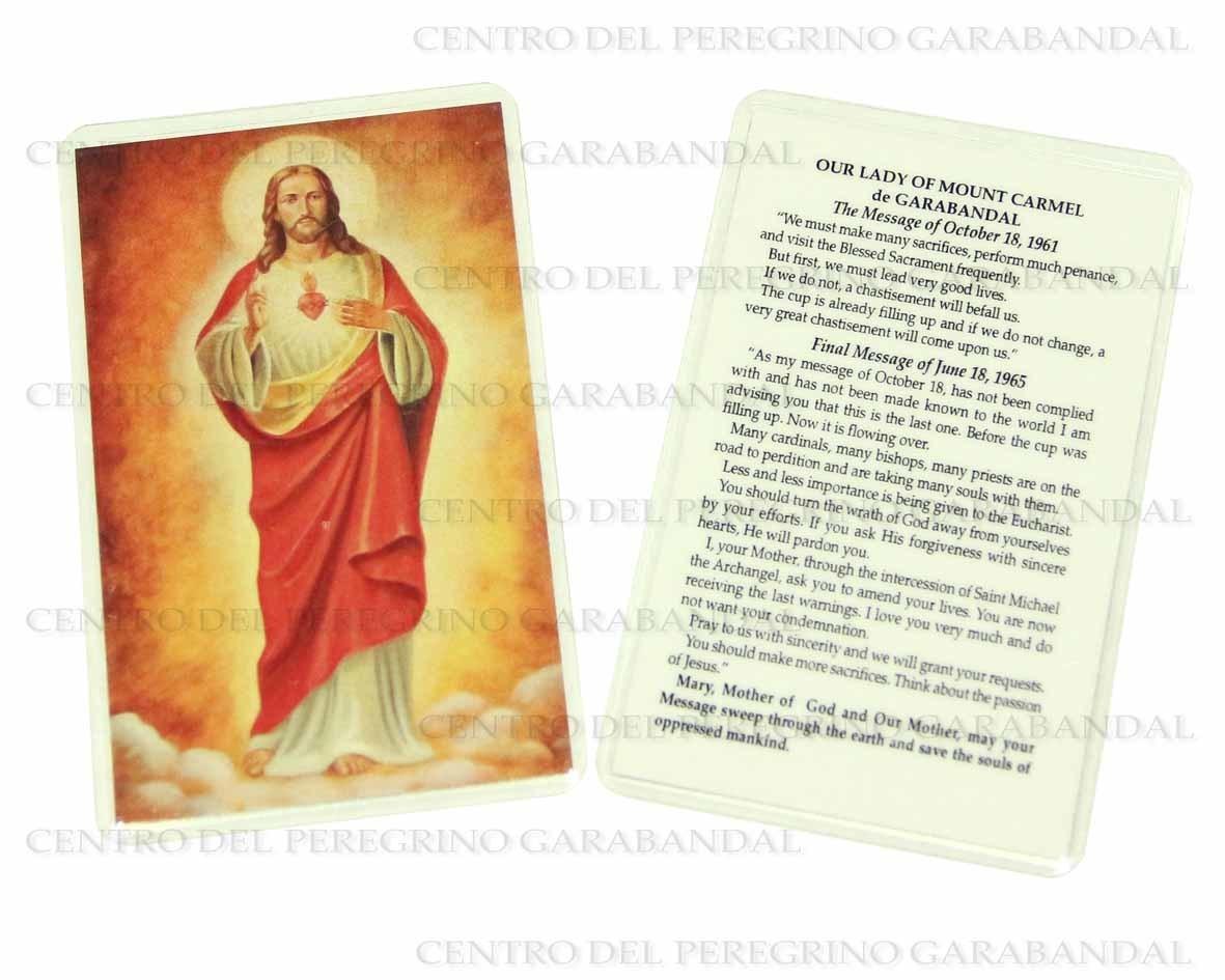 Estampa Plastificada Sagrado Corazón