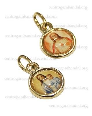 Medalla Escapulario Redonda Mini