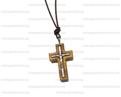 Olive Wood Cross with cord