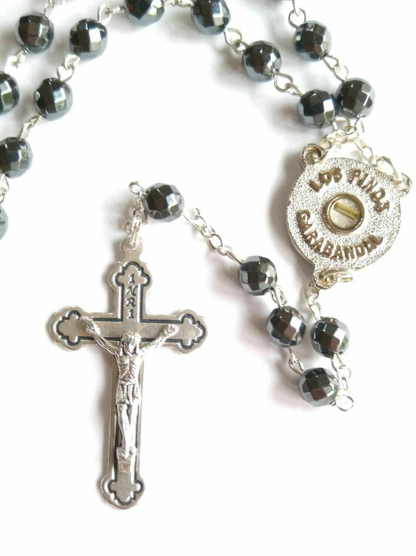 """Rosary """"THE PINES"""" - Hematite (English)"""