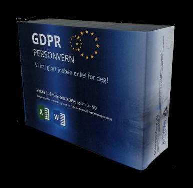 Småbedrift Pakke GDPR Score 0-99 Fullversjon
