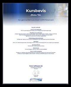 GDPR Kursbevis