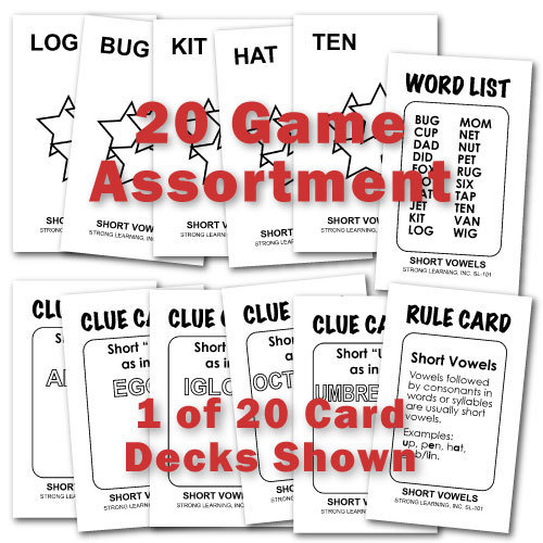 SPECIAL-All 20 Phonics Games (Each is 4 Games in 1)-SAVE $80