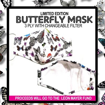 PREORDER: ADULT MLW BUTTERFLY MASK SHIPPING INCLUDED JUNE 15TH SHIPPING