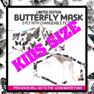 PREORDER: KIDS MLW BUTTERFLY MASK SHIPPING INCLUDED JUNE 15TH SHIPPING