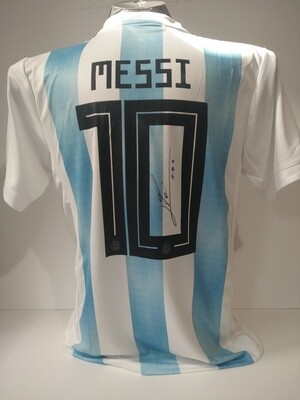 Maglia ARGENTINA LEO MESSI Autografata  LEO MESSI  ARGENTINA  Signed wich COA certificate LEO MESSI  2018 2019 ARGENTINA