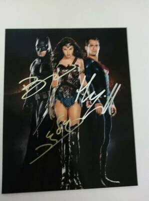 FOTO Batman v Superman Autografata Signed + COA Photo Batman v Superman Autografato Signed