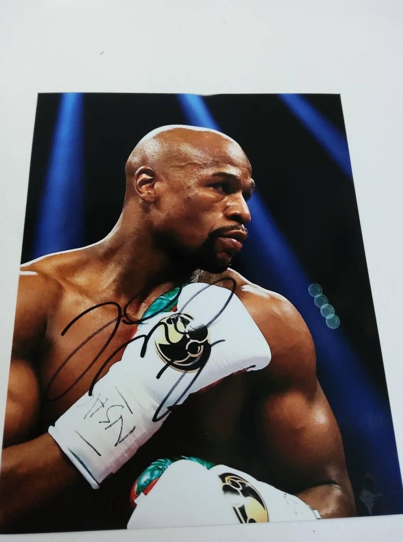 FOTO Floyd Mayweather Jr Autografata Signed + COA Photo Floyd Mayweather Jr Autografato Signed