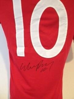 Inghilterra Maglia Rooney 10 Autografata Signed Jersey England Rooney 10 Signed