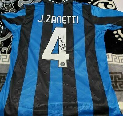 Inter REPLICA  Finale Madrid 2010 Autografata JAVIER ZANETTI Signed Javier Zanetti Autograph  with COA certificate