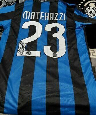 Inter REPLICA  Finale Madrid 2010 Autografata MARCO MATERAZZI Signed MARCO MATERAZZI Autograph  with COA certificate
