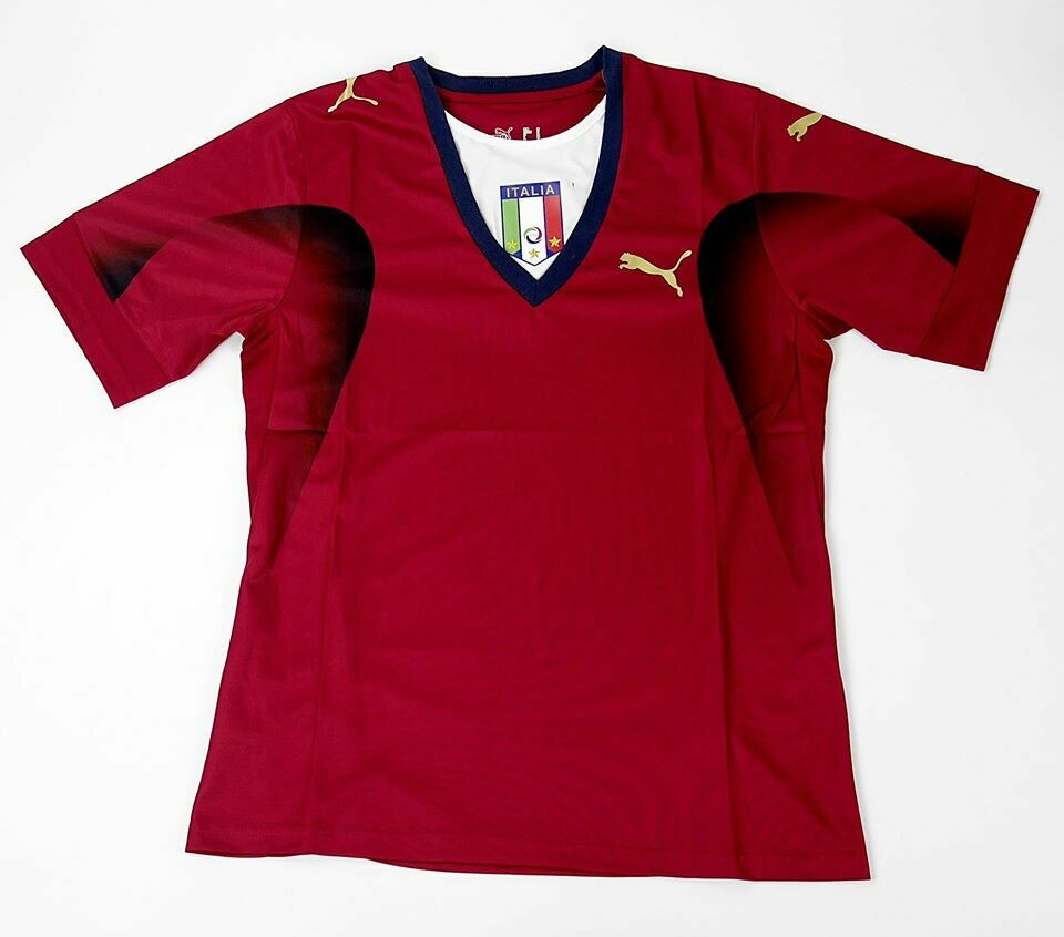 ITALY GOALKEPPER RED WORLD CUP 2006 ITALIA MAGLIA PORTIERE 2006 MONDIALI