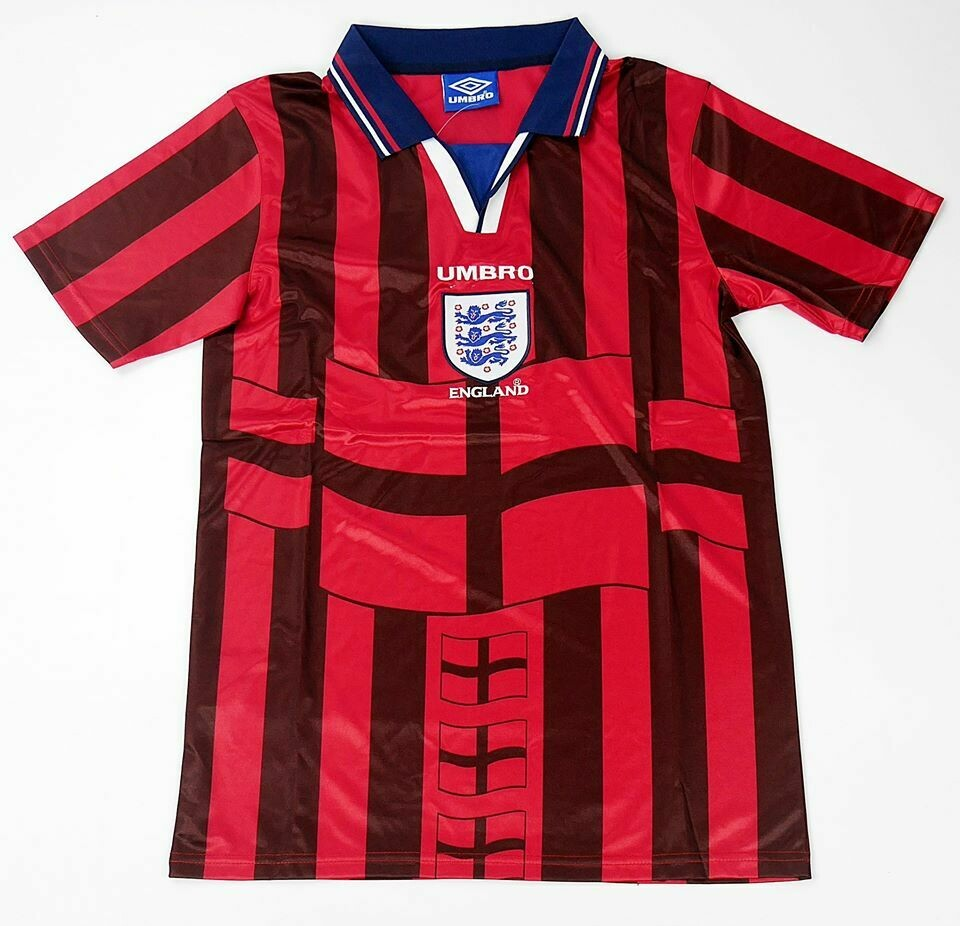 ENGLAND WORLD CUP 1998 INGHILTERRA MONDIALI 1998 WORLD CUP 98 JERSEY AWAY MAGLIA TRASFERTA 1998