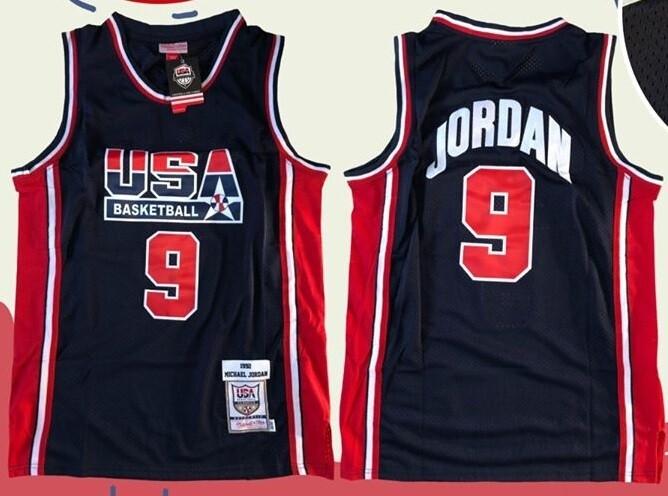 USA MAGLIA JERSEY MICHEAL JORDAN 9 BASKETBALL