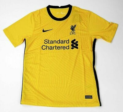 LIVERPOOL GOALKEEPER YELLOW 2020-2021 MAGLIA PORTIERE 2020 2021 LIVERPOOL