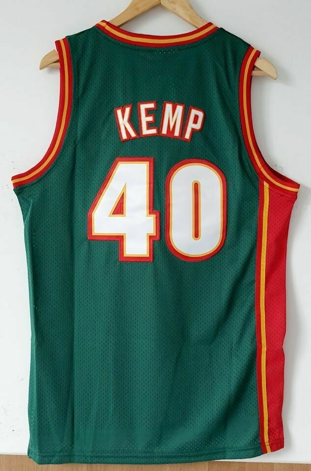 Seattle SuperSonics Shawn Kemp Jersey Maglia BASKETBALL NBA