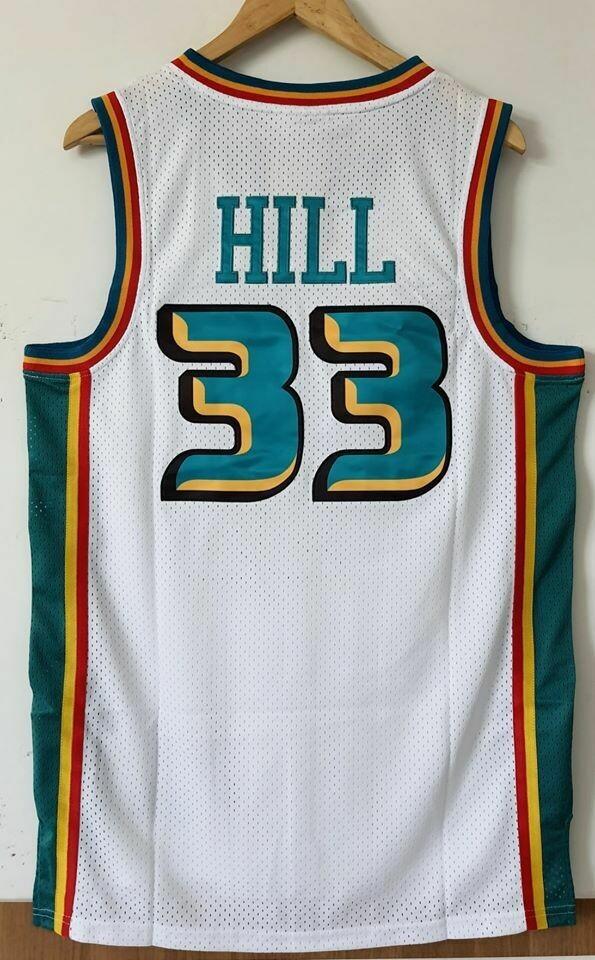 HILL 33 DETROIT PISTONS Jersey Maglia BASKETBALL NBA