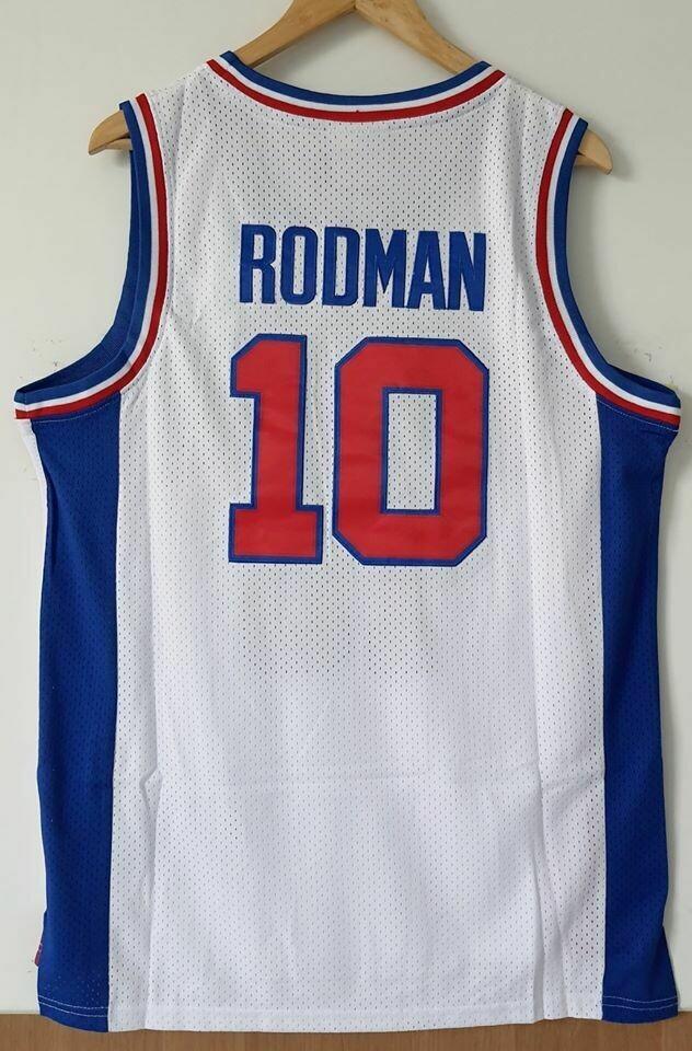 DETROIT PISTON 10 RODMAN 10  Jersey Maglia BASKETBALL NBA