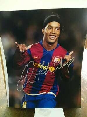 FOTO RONALDINHO   Autografata Signed + COA Photo RONALDINHO Autografato Signed