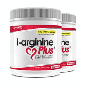 2 x tubs of L-Arginine Plus™ (60 day supply) 2500 IU's vitamin D3 - Choice of Raspberry or Lime Lemon