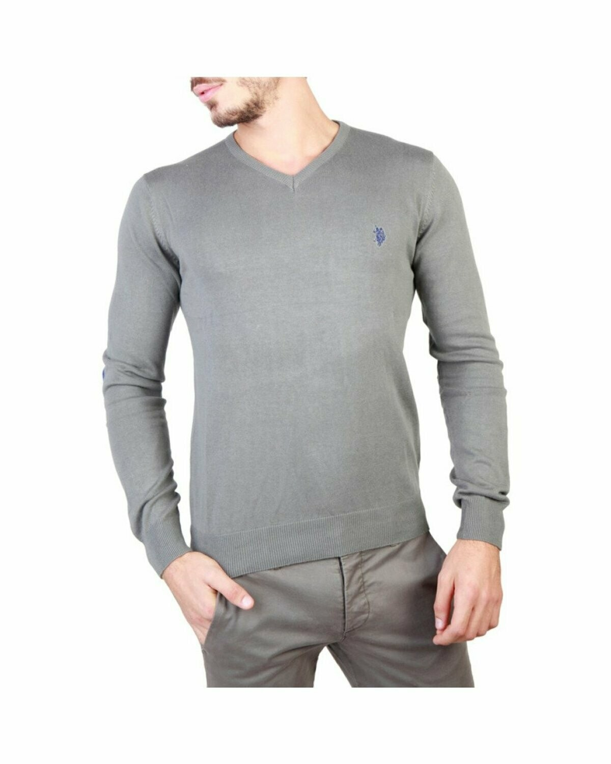 US Polo Assn Men's V Neck Cotton Sweater