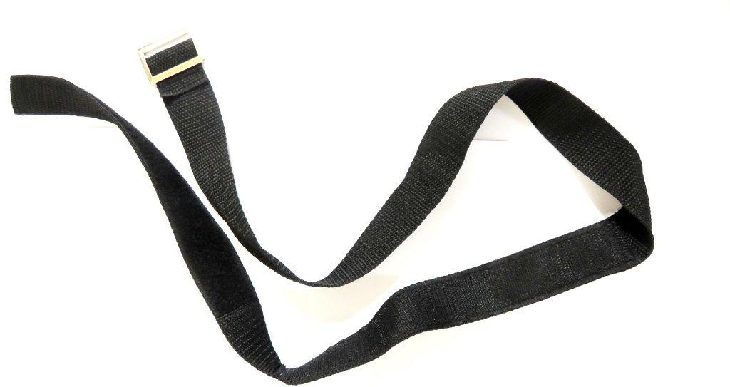 Lower bag strap Buckled Velcro strap