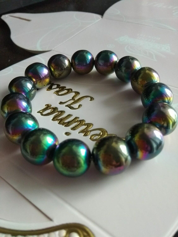 Others - Handmade Rainbow Hematite Bracelet