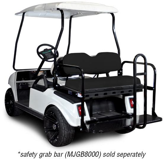 Rear Flip Seat with Black Cushion. Will fit Club Car® DS™ Golf Carts.