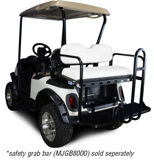 Genesis 150 Rear Flip Seat with Oyster Cushion. Will fit *E-Z-Go® *RXV® Golf Carts.