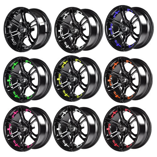 Mirage 14x7 Black Wheel Color Insert Options (inserts only)
