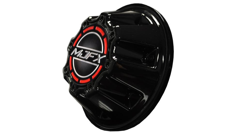Black/Red Center Cap for TRANSFORMER Series Wheels